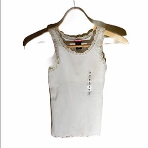 Gap white built in bra tank top